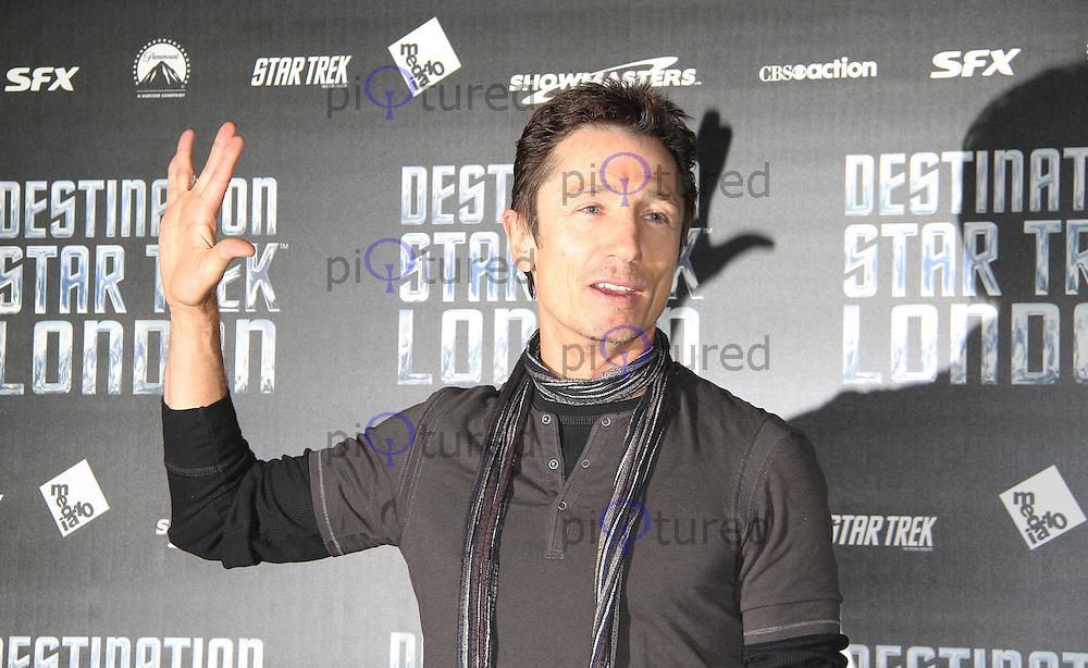 LONDON - OCTOBER 19: Dominic Keating attended 'Destination Star Trek London' at the ExCel Centre London, UK, October 19, 2012. (Photo by Richard Goldschmidt)