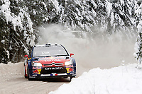 MOTORSPORT - WRC 2010 - RALLY SWEDEN - KARLSTAD (SWE) - 11 to 14/02/2010 - PHOTO : FRANCOIS BAUDIN / DPPI<br /> SEBASTIEN LOEB (FRA) / DANIEL ELENA (MON) - CITROEN TOTAL RALLY TEAM - CITROEN C4 WRC - ACTION