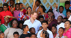 Prince Harry visits the Joshua House Children's Centre in Georgetown, Guyana, during an official visit to the Caribbean.