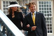His highness prince Pieter-Christiaan of Oranje Nassau, of Vollenhoven and Ms drs. A.T. van Eijk get married Thursday 25 augusts in Palace the Loo in apeldoorn.<br /> <br /> <br /> Zijne Hoogheid Prins Pieter-Christiaan van Oranje-Nassau, van Vollenhoven en mevrouw drs. A.T. van Eijk treden donderdag 25 augustus in Paleis Het Loo te Apeldoorn in het huwelijk. <br /> <br /> On the photo/Op de foto:<br /> <br /> Zijne Hoogheid Prins Maurits van Oranje-Nassau, van Vollenhoven <br /> Hare Hoogheid Prinses Marilène van Oranje-Nassau, van Vollenhoven