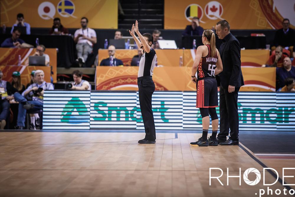 Day 1 – CANADA (CAN) vs BELGIUM (BEL): 61-56<br /> <br /> FIBA Women's Olympic Qualifying Tournament 2020 – Ostend,  Belgium<br /> Ostend Versluys Dôme (BEL)<br /> <br /> ©RhodePhotoMedia