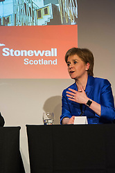 Pictured: Nicola Sturgeon<br /> <br /> Party leaders Nicola Sturgeon, Kezia Dugdale, Ruth Davidson, Willie Rennie and Patrick Harvie faced questions from the public at an LGBTI election hustings event arranged by Stonewall Scotland, LGBT youth Scotland, Equaity Network and The Scottish Equality Network at the Royal College of Surgeons of Edinburgh. Edinburgh. 31 March 2016<br /> <br /> Ger Harley | Edinburghelitemedia.co.uk