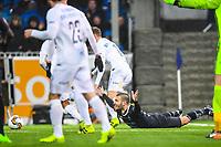 Fotball , Eliteserien , 1 April 2017 , Kristiansund - Molde , Kamer Qaka roper på straffespark<br /> <br />  , Foto: Marius Simensen, Digitalsport