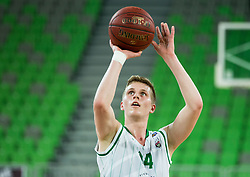 Ziga Jurcek #14 of KK Union Olimpija during basketball match between KK Union Olimpija and KK Helios Suns in Round 8 of Nova KBM 2016/17 Champions League, on March 29, 2017 in Arena Stozice, Ljubljana, Slovenia. Photo by Vid Ponikvar / Sportida