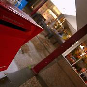 Winkelcentrum de Kostmand Gemeenlandslaan Huizen ext., PTT postbus