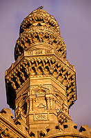 Minaret, Sultan Hasan Mosque and Madrasa, Islamic Cairo, Cairo, Egypt