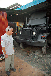 Bill Morse With New Vehicle For Demining Group