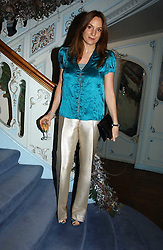 EMILY OPPENHEIMER at jewellers Tiffany's Christmas party held at The Savile Club, 69 Brook Street, London on 14th December 2004.<br /><br />NON EXCLUSIVE - WORLD RIGHTS