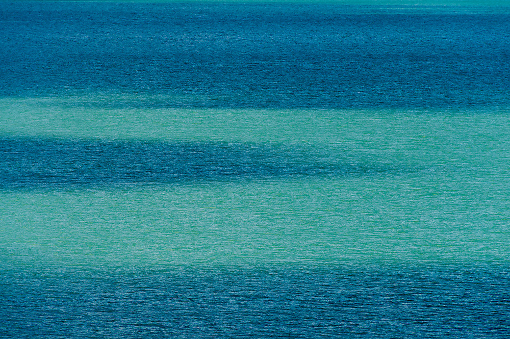 Abstract of surface of Lake Sherburne in Glacier National Park