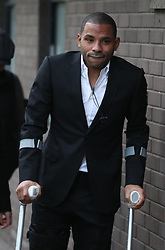 Crystal Palace captain Jason Puncheon arrivies at Guildford Magistrates' Court and Family Court Hearing Centre where he is charged with a Section 4 public order offence - causing fear or provocation of violence, possession of an offensive weapon and common assault after an incident in Church Street, Reigate, Surrey, near a nightclub in the early hours of Sunday December 17.