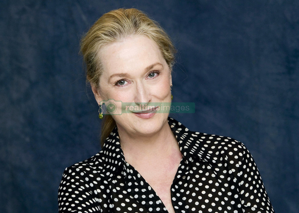 October 20, 2007 - New York, New York, U.S. - MERYL STREEP promotes 'Lions for Lambs.' Mary Louise 'Meryl' Streep (born June 22, 1949) is an American actress of stage and screen, and philanthropist. Streep is particularly known for her versatility in her roles, transformation into the characters she plays, and her accent adaptation. She made her professional stage debut in The Playboy of Seville in 1971, and in 1976 received a Tony Award nomination for Best Featured Actress in a Play for A Memory of Two Mondays/27 Wagons Full of Cotton. She made her screen debut in the 1977 television film The Deadliest Season, and made her film debut later that same year in Julia. In 1978, she won an Emmy Award for her role in the miniseries Holocaust, and received her first Academy Award nomination for The Deer Hunter. Nominated for 20 Academy Awards in total, Streep has more nominations than any other actor or actress; she won Best Supporting Actress for Kramer vs. Kramer (1979), and Best Actress for Sophie's Choice (1982) and The Iron Lady (2011). Streep is one of the six actors to have won three or more competitive Academy Awards for acting. Her other nominated roles are The French Lieutenant's Woman (1981), Silkwood (1983), Out of Africa (1985), Ironweed (1987), Evil Angels (1988), Postcards from the Edge (1990), The Bridges of Madison County (1995), One True Thing (1998), Music of the Heart (1999), Adaptation (2002), The Devil Wears Prada (2006), Doubt (2008), Julie & Julia (2009), August: Osage County (2013), Into the Woods (2014) and Florence Foster Jenkins (2016). She returned to the stage for the first time in over 20 years in The Public Theater's 2001 revival of The Seagull, won a second Emmy Award in 2004 for the HBO miniseries Angels in America (2003), and starred in the Public Theater's 2006 production of Mother Courage and Her Children. In 2017, Streep was awarded the Golden Globe Cecil B. DeMille Award. Upcoming:  Mary Poppins Returns (2018). (Credit Image: © A