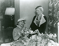 1935 Sara Langman serves coffee to Mrs. C.B. DeMille at the Hollywood Studio Club on Lodi Pl.