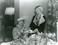1935 Sara Langman serves coffee to Mrs. C.B. DeMille at the Hollywood Studio Club on Lodi Pl.
