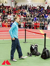 BU Terrier Indoor, Galen Rupp AR 2-mile, warmup