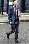 The government's chief scientific adviser Patrick Vallance leave 10 Downing Street, London, ahead of a Cabinet meeting at the Foreign and Commonwealth Office on Wednesday, Sept 30, 2020. (VXP Photo/ Vudi Xhymshiti)