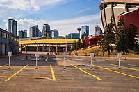 Empty Parking Lot @ Scotiabank Saddledome, Stampede Park