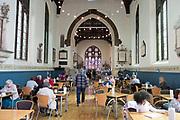 Cafe inside Saint Nicholas church community centre, Dial Lane, Ipswich, Suffolk, England, UK