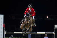 Pius Schwizer on PSG Future competes during the AirbusTrophy at the Longines Masters of Hong Kong on 20 February 2016 at the Asia World Expo in Hong Kong, China. Photo by Juan Manuel Serrano / Power Sport Images