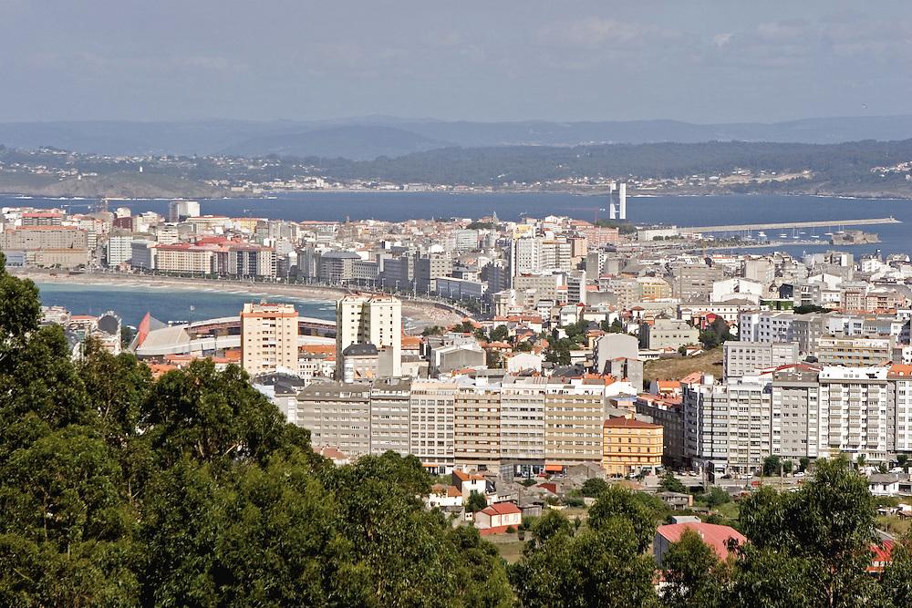 Panoramic view of La Coruna from Parque del Ocio.<br /> Vista panorámica de La Coruña desde el alto del nuevo Parque de Ocio, al oeste de la ciudad.