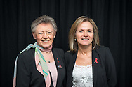 20th International AIDS Conference (AIDS 2014). International AIDS Society, at the Exhibition Centre, Melbourne, Australia. <br /> From (left to right): Francoise Barre-Sinoussi, Sharon Lewin.<br /> Photo © Steve Forrest/Workers' Photos