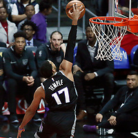 26 December 2017: Sacramento Kings guard Garrett Temple (17) goes for the dunk during the LA Clippers 122-95 victory over the Sacramento Kings, at the Staples Center, Los Angeles, California, USA.