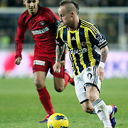 Fenerbahce's Mirosloav Stoch during their Turkish superleague soccer match Fenerbahce between Gaziantepspor at the Sukru Saracaoglu stadium in Istanbul Turkey on Monday09 January 2011. Photo by TURKPIX