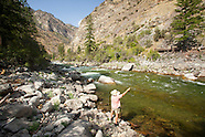 Middle Fork of the Salmon River Fly Fishing Photos - Stock images