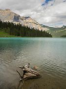 View of Emerald Lake; Yoho National Park, near Golden, British Columbia, Canada.