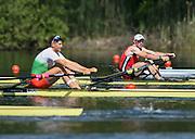Lucerne, SWITZERLAND<br /> <br /> BEL M1X, Hannes OBRENO, 2016 European Olympic Qualifying Regatta, Lake Rotsee.<br /> <br /> Sunday  22/05/2016<br /> <br /> [Mandatory Credit; Peter SPURRIER/Intersport-images]