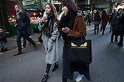 A bag with eyes in London, England, United Kingdom. (photo by Mike Kemp/In Pictures via Getty Images)