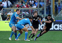 Rome, Italy -In the photo Savea in advance during .Olympic stadium in Rome Rugby test match Cariparma.Italy vs New Zealand (All Blacks). (Credit Image: © Gilberto Carbonari).