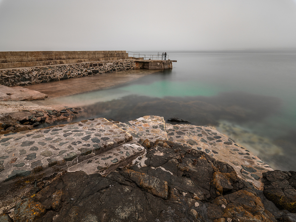 Ocean side Boat Launch at St. Ives in Cornwall on the Southwest Coast of England.  Licensing and Limited Edition Prints.