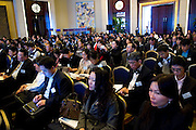 The audience during Shanghai / Paris Europlace Financial Forum, in Shanghai, China, on December 1, 2010. Photo by Lucas Schifres/Pictobank