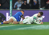 Rugby Union - 2017 Old Mutual Wealth Series (Autumn Internationals) - England vs. Samoa<br /> <br /> Elliot Daly of England,  dives over for his 2nd half try at Twickenham.<br /> <br /> COLORSPORT/ANDREW COWIE
