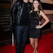 NLD/Amsterdam/20121112 - Beau Monde Awards 2012, lange Frans Frederiks en partner Danielle van Aalderen