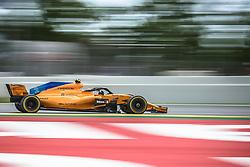 May 13, 2018 - Barcelona, Catalonia, Spain - STOFFEL VANDOORNE (BEL) drives during the Spanish GP at Circuit de Barcelona - Catalunya in his McLaren MCL33 (Credit Image: © Matthias Oesterle via ZUMA Wire)