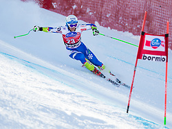 27.12.2013, Stelvio, Bormio, ITA, FIS Ski Weltcup, Bormio, Abfahrt, Herren, 1. Traininglauf, im Bild Rok Perko (SLO) // Rok Perko of Slovenia in action during mens 1st downhill practice of the Bormio FIS Ski Alpine World Cup at the Stelvio Course in Bormio, Italy on 2012/12/27. EXPA Pictures © 2013, PhotoCredit: EXPA/ Johann Groder