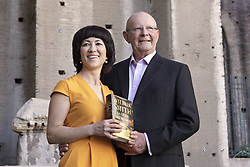 June 23, 2011 - Roma, Italy - 579322 : (Donatella Giagnori / EIDON),  2011-06-21 Roma - The writer Wilbur Smith at the Basilica of Maxentius for the Festival of Literature 2011 - Wilbur Smith and his fourth wife, Mokhiniso (Credit Image: © Eidon Press/ZUMAPRESS.com)