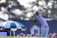 Kevin Tway (USA) on the 1st tee during the 1st round at the The Masters , Augusta National, Augusta, Georgia, USA. 11/04/2019.<br /> Picture Fran Caffrey / Golffile.ie<br /> <br /> All photo usage must carry mandatory copyright credit (© Golffile | Fran Caffrey)
