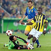 Fenerbahce's Mamadou NIANG (R) during their Turkish superleague soccer match Fenerbahce between Ankaragucu at the Sukru Saracaoglu stadium in Istanbul Turkey on Sunday 15 May 2011. Photo by TURKPIX