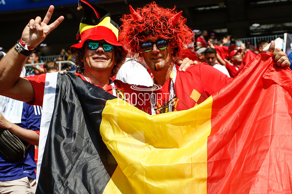 Fans of Belgium during the 2018 FIFA World Cup Russia, Group G football match between Belgium and Tunisia on June 23, 2018 at Spartak Stadium in Moscow, Russia - Photo Thiago Bernardes / FramePhoto / ProSportsImages / DPPI