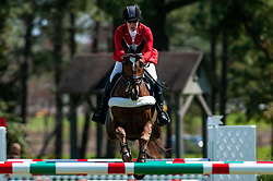 March 22, 2019 - Raeford, North Carolina, US - March 22, 2019 - Raeford, N.C., USA - LISA MARIE FERGUSSON of Canada riding HONOR ME competes in the show jumping CCI-4S division at the sixth annual Cloud 11-Gavilan North LLC Carolina International CCI and Horse Trial, at Carolina Horse Park. The Carolina International CCI and Horse Trial is one of North AmericaÃ•s premier eventing competitions for national and international eventing combinations, hosting International competition at the CCI2*-S through CCI4*-S levels and National levels of Training through Advanced. (Credit Image: © Timothy L. Hale/ZUMA Wire)