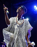 """WASHINGTON, DC - August 23rd, 2014 - Slim Jimmy of Rae Sremmurd performs at the 3rd annual Trillectro Music Festival at RFK Stadium in Washington, D.C. The group's single """"No Flex Zone"""" is currently moving up the hip-hop charts. (Photo by Kyle Gustafson / For The Washington Post)"""