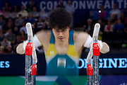 Mcc0055084 . Daily Telegraph<br /> <br /> Australias's Naoya Tsukahara in the Men's Individual Artistic Gymnastics on Day 7 of the 2014 Commonwealth Games .<br /> <br /> 30 July 2014