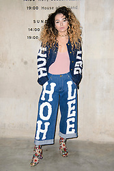 Ella Eyre on the front row at the House of Holland Autumn/Winter 2017 London Fashion Week show at Tate Modern, London.PRESS ASSOCIATION Photo. Picture date: Saturday February 18th, 2017. Photo credit should read: Matt Crossick/PA Wire.