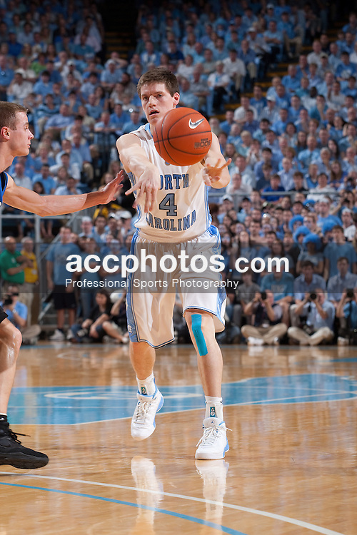 08 March 2009: North Carolina Tar Heels guard Bobby Frasor (4) during a 79-71 win over the Duke Blue Devils at the Dean Smith Center in Chapel Hill, NC.