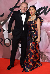 Salma Hayek and Francois-Hennri Pinault  attending The Fashion Awards 2016 at The Royal Albert Hall in London. <br /> <br /> Picture Credit Should Read: Doug Peters/ EMPICS Entertainment