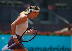 May 6, 2019 - Madrid, MADRID, SPAIN - Victoria Azarenka of Belarus in action during her second-round match at the 2019 Mutua Madrid Open WTA Premier Mandatory tennis tournament (Credit Image: © AFP7 via ZUMA Wire)