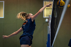 Finally they were allowed to train in the hall again. The Dutch women's team Volleyball and BTN, the beach team, worked together in training at Papendal, June 26, 2020 in Arnhem