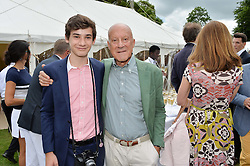 LORD FOSTER and his son EDUARDO FOSTER at the Cartier hosted Style et Lux at The Goodwood Festival of Speed at Goodwood House, West Sussex on 26th June 2016.